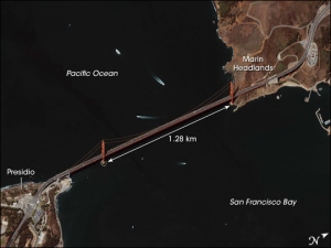 Golden Gate Bridge [NASA Satellite Photo, 07.06.2006]