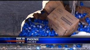 Phoenix Rollover Accident, February 13, 2012, Fox 10 News