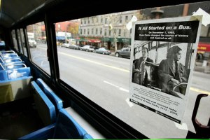 Poster Commemorating the 50th Anniversary (December 1, 2005) of Rosa Park's Act of Civil Disobedience, New York, NY