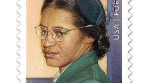 Rosa Parks Forever Stamp issued by the United States Postal Service on February 4, 2013