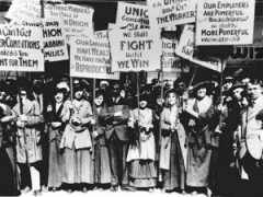Women Demonstrators (Undated photo, Huffington Post)
