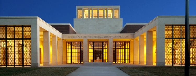 George W. Bush Presidential Center (at night, photo courtesy of the Bush Presidential Center)