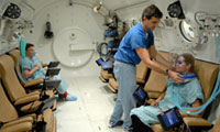 Hyperbaric Chamber with people (Source: Scottsdale Health Care)