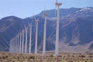 Wind turbines at San Gorgono Pass Wind Farm (near Palm Springs, CA)
