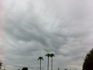 Storm clouds brewing in metro-Phoenix, September 2014