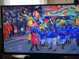 Taney Dragons Pass Reviewing Stands at 2014 Macy's Thanksgiving Parade (Source: Sarah J. Glover)
