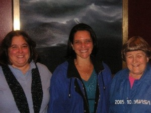 Naomi Brill, SWE Board of Directors member (left), Florence Hudson, and Yvonne Brill (right) - a long-time friend and mentor in 2005.