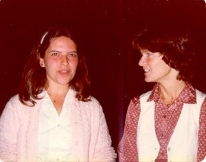 Florence Hudson and Sally Ride (right) at UCSF SWE Conference in 1979
