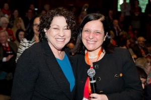 Supreme Court Justice Sonya Sotomayor (left) and Florence Hudson at Princeton University alumni event, February 2014