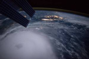 Photo of Hurricane Joaquin taken by NASA Astronaut Scott Kelly on 10.02.2015 on the International Space Station