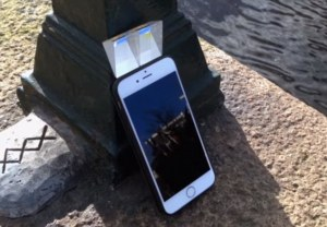 Image of urban periscope jacket over iPhone (Source: Urban Periscope)
