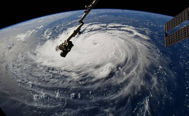 Hurricane Florence Viewed from the ISS